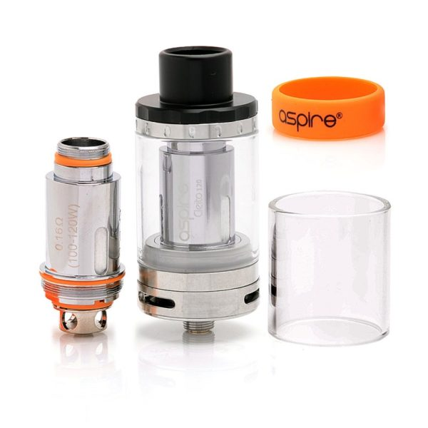 authentic-aspire-cleito-120-sub-ohm-tank-clearomizer-silver-stainless-steel-4ml-25mm-diameter